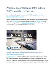 Personal Loan Company Rates in India TIS Tirupati Invest Services.docx