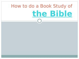 How to do a Book Study of the-1.pptx