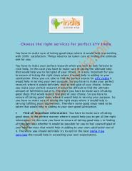 Choose the right services for perfect eTV India.pdf