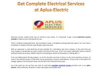 Get Complete Electrical Services at Aplus-Electric.pdf