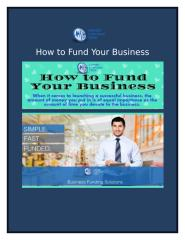 How to Fund Your Business.docx