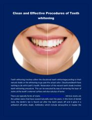 Clean and Effective Procedures of Teeth Whitening.pdf