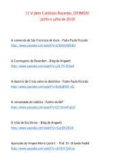 31 Vídeos Católicos Recentes. ÓTIMOS!.pdf