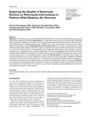 Exploring the Quality of Systematic Reviews on Pharmacist Interventions in Patients With Diabetes -  An Overview.pdf