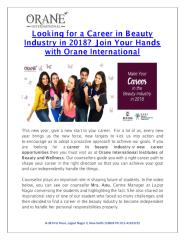 Looking for Career in Beauty Industry in 2018- Join Your Hands with Orane International.pdf