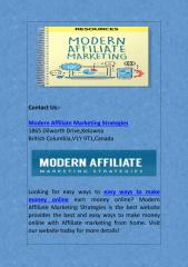 Easy Ways to Make Money Online With Affiliate Marketing.pdf