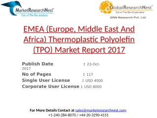EMEA (Europe, Middle East And Africa) Thermoplastic Polyolefin (TPO) Market Report 2017.pptx